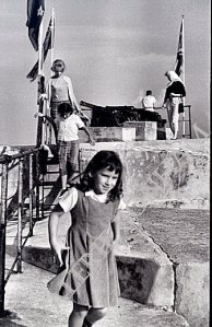 1962:  Me and my sister (the two 'front' people in the photo -- I'm on the steps) at Fort Saint Catherine.