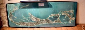 2002: Photo-map of the islands that make up Bermuda, taken at the Bermuda Aquarium.