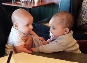 The two littlest cousins at Ruby Tuesday.