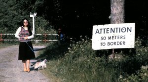 Me and Pippin near the border between West and East Germany.