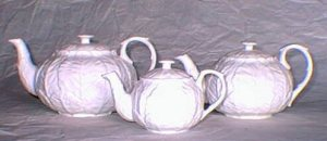 Coalport Countryware One set of my many teapots shown in an inventory photo taken before moving from Germany to Belgium. 1st generation digital photo