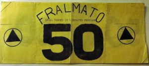 "Fifty fralmatos. The  really poor-quality photocopy picture on the reverse was of ""Comrade Marya."""